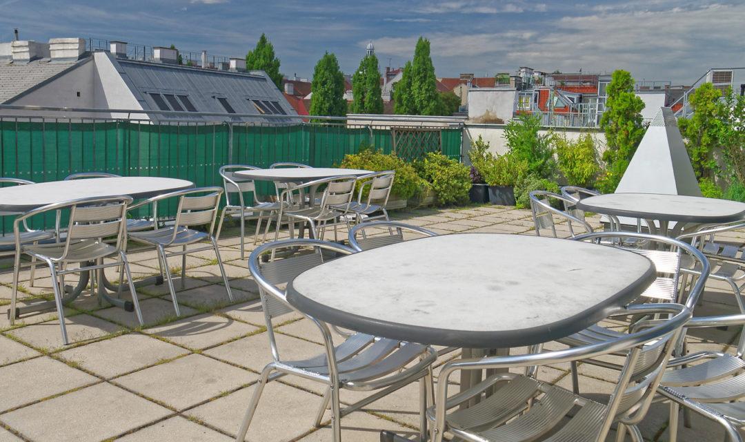 Studentenhaus Neustiftgasse 83 Dachterrasse
